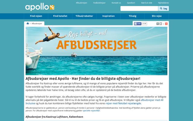 Apollo afbudsrejser