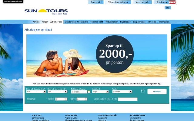 Sun Tours afbudsrejser
