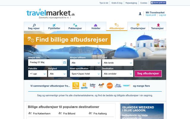 Travelmarket afbudsrejser
